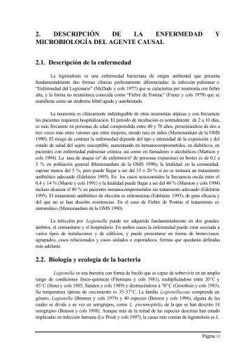 Descripción de la enfermedad y microbiología del agente causal