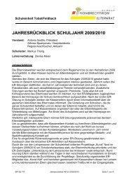 jahresrückblick schuljahr 2009/2010 - Schule Hombrechtikon
