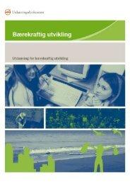 bærekraftig utvikling - Nettverk for miljølære