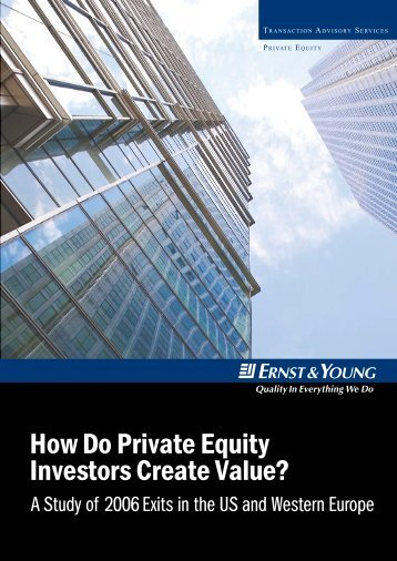 How Do Private Equity Investors Create Value?