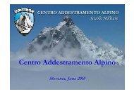 Centro Addestramento Alpino - Slovenska vojska