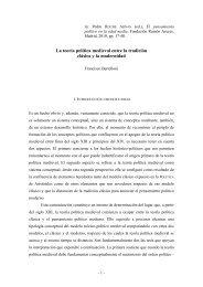 La teoría política medieval entre la tradición clásica y la modernidad