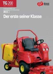 Der TG200 ist das neueste Produkt aus der Gianni Ferrari Produkt