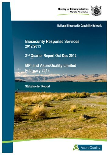 BRS Industry Report 2012_13 February 2013 - AsureQuality