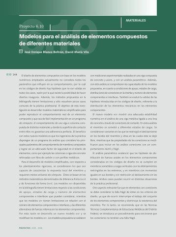 6.10 Modelo para el análisis de elementos compuestos de ... - UNAM