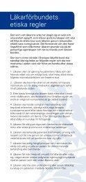 Läkarförbundets etiska regler - Sveriges läkarförbund