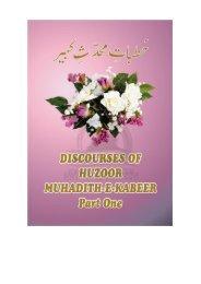 discourses of huzoor muhadith-e-kabeer - NafseIslam