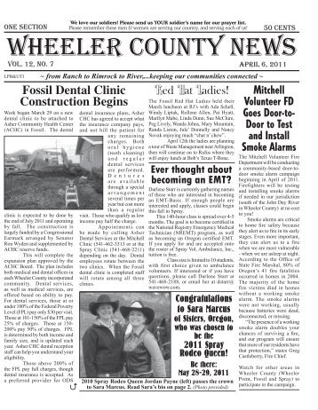 We love our soldiers! Please send us YOUR - Wheeler County News
