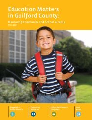 2009 Education Matters in Guilford County - Action Greensboro