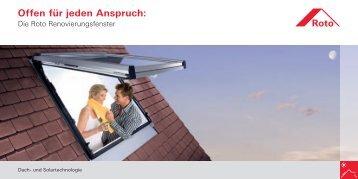 Roto Flyer Renovierung.indd - ROTO Bauelemente GmbH - Roto Dach