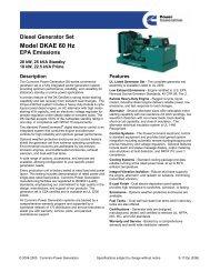 Diesel Generator Set Model DKAE 60 Hz EPA Emissions