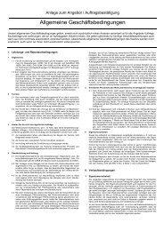 Allgemeine Geschäftsbedingungen - STAMM GmbH