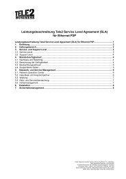 (SLA) für Ethernet P2P - Tele2
