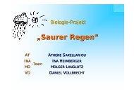 Biologie-Projekt Saurer Regen - SNEAKER