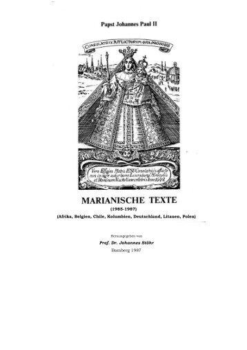 Johannes Paul II, Marianische Texte - Prof. Dr. Johannes Stöhr