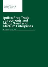 India's FTAs and MSMEs - Third World Network