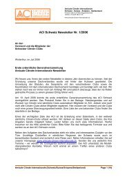 ACI Schweiz Newsletter Nr. 1/2006 - Citroën DS Club Suisse CDSCS