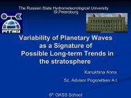 Variability of Planetary Waves as a Signature of Possible Long-term ...