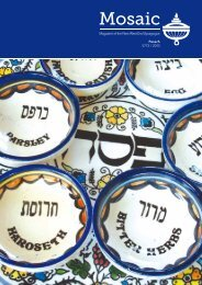 1 Magazine of the New West End Synagogue Pesach 5773 / 2013