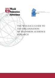 the wfa/eaca guide to the organisation of television audience research