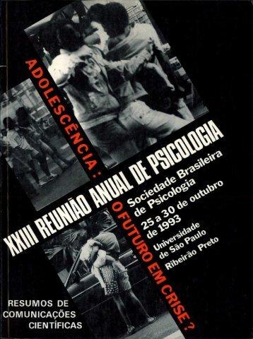 1993 - Sociedade Brasileira de Psicologia