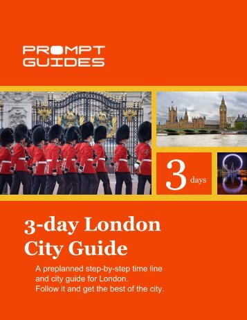 3-day London City Guide - Prompt Guides