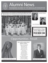 Alumni News - Oldenburg Academy