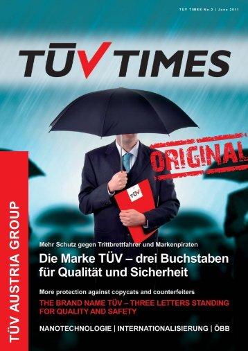 TÜV TIMES - TUV AUSTRIA - Juni - June 2011