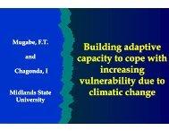 Background Presentation: Zimbabwe-Zambia - MSU - Africa Adapt