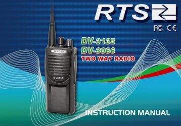DV-3066/3135 Manual - Two Way Radios South Africa
