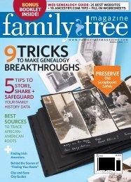 March/April 2013 Family Tree Magazine - F+W Media
