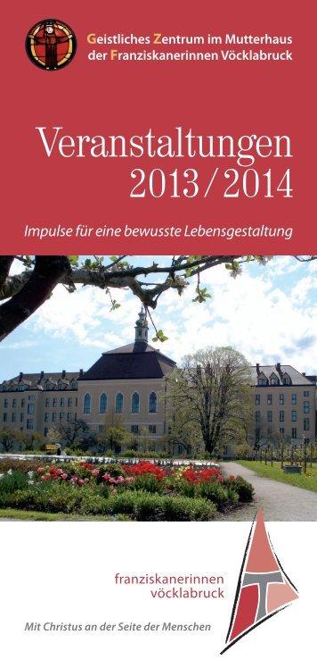 Veranstaltungen im Geistlichen Zentrum - Franziskanerinnen von ...