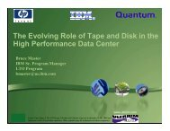 The Evolving Role of Tape and Disk in the High Performance Data ...