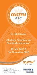 "Dr. Olaf Daum: ""Moderne Techniken zur ... - Osstem."