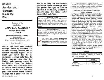 brochure - Cape Cod Academy