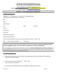 Section I: To be completed by all applicants. - Brookline Labrador ...