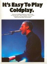 Coldplay - Daily Piano Sheets