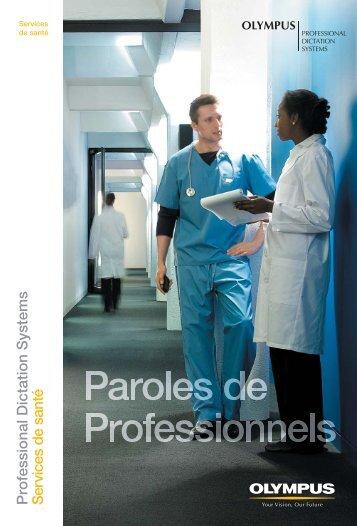 Professional Dictation Systems Services de santé - Olympus - Europe