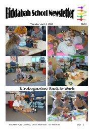 Newsletter Term 1 Week 10 - Biddabah Public School