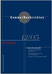 KammerNachrichten 12/05 - Kammer der ZiviltechnikerInnen für ...