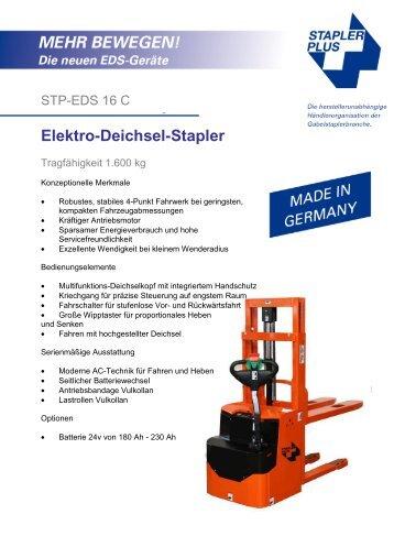 Elektro-Deichsel-Stapler - Stapler Plus eG