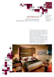 Reference report - Mandarin Oriental München - Rolf Krebs GmbH