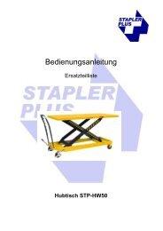 Bedienungsanleitung - Stapler Plus eG