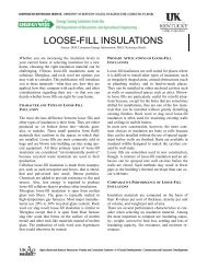 LOOSE-FILL INSULATIONS