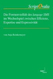 Die Formenvielfalt des langage SMS im Wechselspiel ... - narr-shop.de