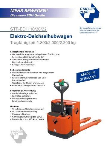 BEWEGEN! Die neuen EDH-Geräte - Stapler Plus eG