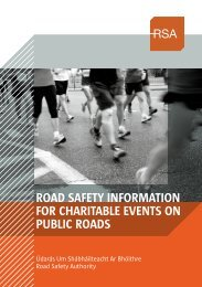 RoAD SAfety InfoRmAtIon foR ChARItAble eventS on ... - RSA.ie