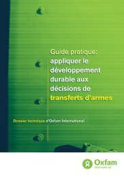 appliquer le développement durable aux décisions ... - Control Arms
