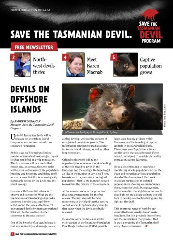 save the tasmanian devil appeal