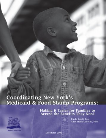 Coordinating New York's Medicaid & Food Stamp Programs: